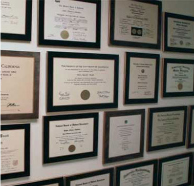 Dermatologist Practice Philosophy La Mesa CA - Awards and Certificates